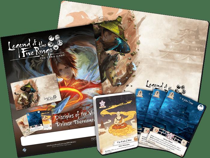 kit de torneo de leyenda de los 5 anillos release de discípulos del vacío, disciples of the void