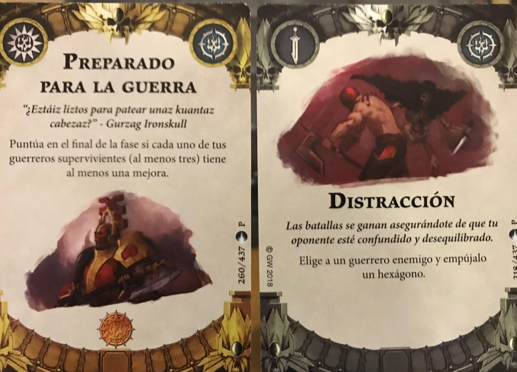 cartas promos por participar en el torneo de warhammer shadespire