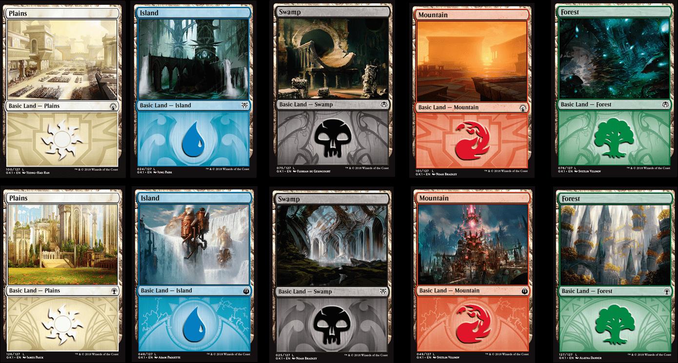 Tierras básicas promocionales para los draft de gremios de ravnica en Empire Games sevilla