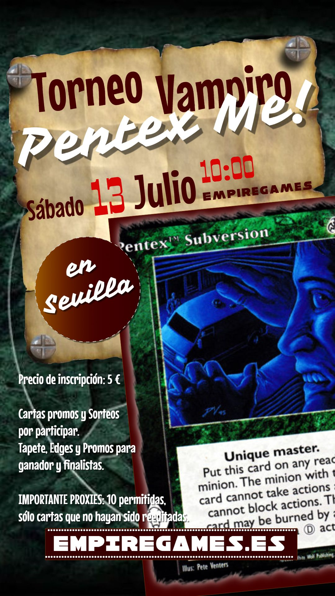 Torneo Vampire: The Eternal Struggle – Pentex Me!