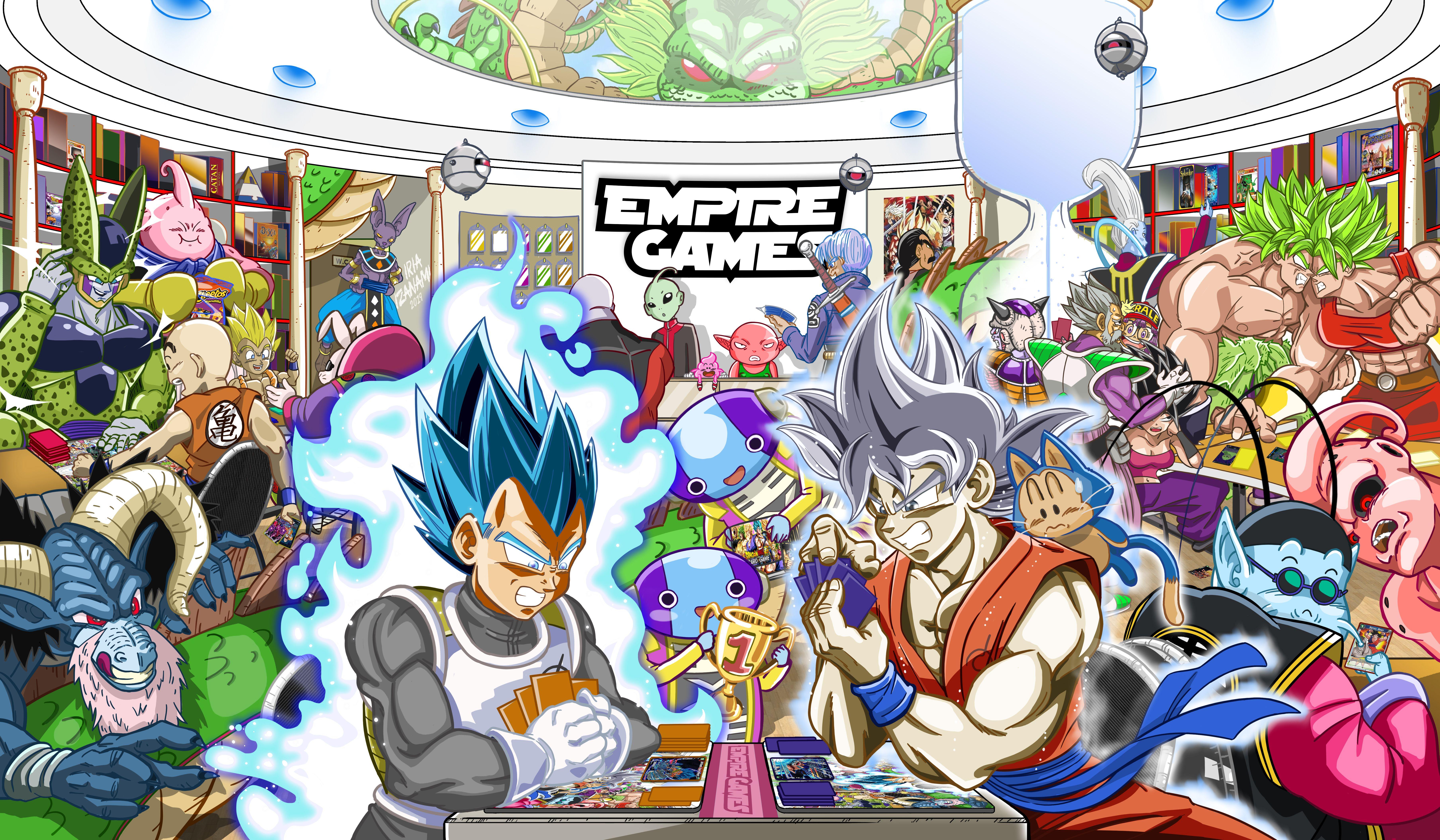 tapete de premio del primer open Dragon Ball Super en Empire Games Sevilla