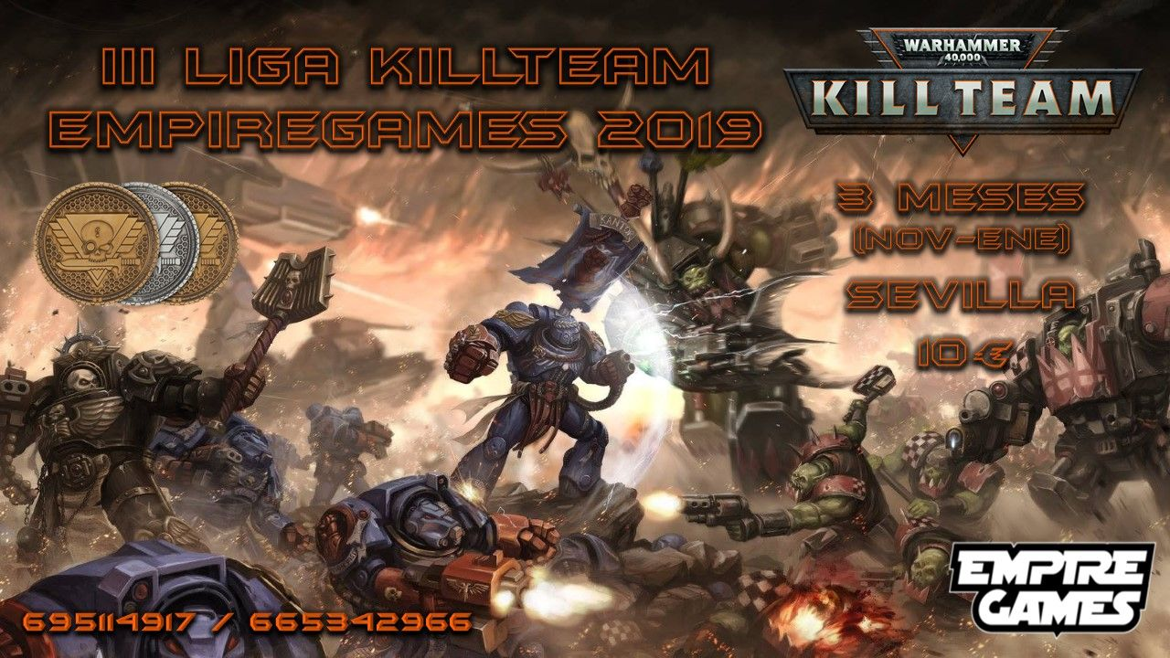 3ª Liga De WARHAMMER KILL TEAM