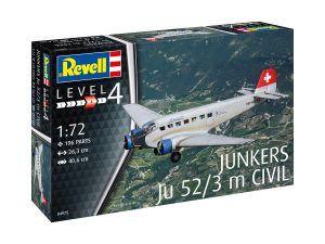 1:72 Revell 04975 Junkers Ju 52/3 M Civil