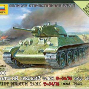 1:100 Zvezda 6101 Soviet Medium Tank T-34/76 Mod