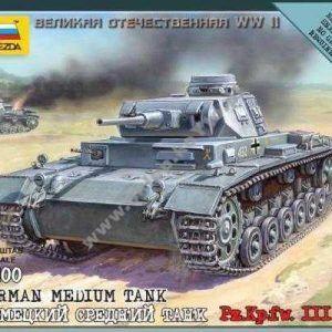 1:100 Zvezda 6119 German Medium Tank Pz.Kp.fw. III