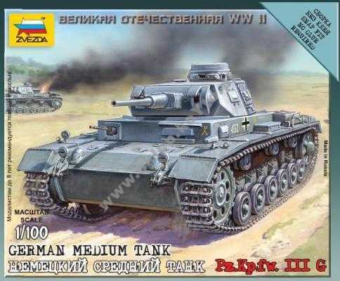 1:100 Zvezda 6119 German Medium Tank Pz.Kp.fw. III