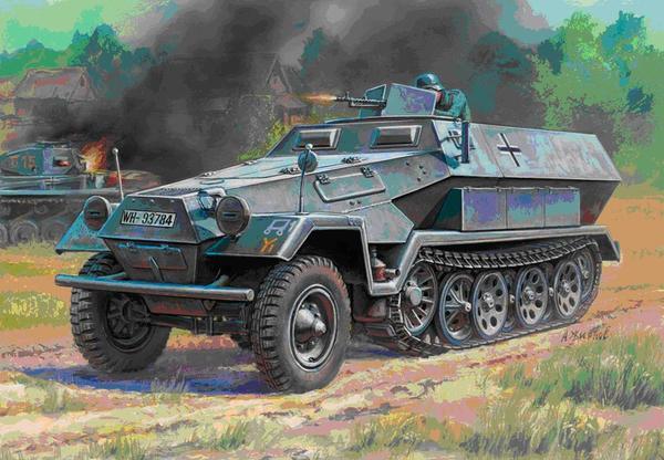 1:100 Zvezda 6127 Sd.Kfz.251/1 Ausf.B