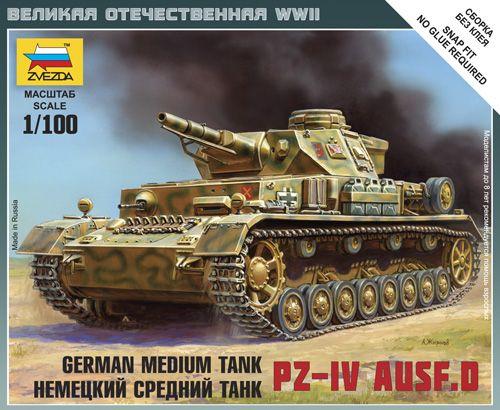 1:100 Zvezda 6151 German Tank Pz.Kpfw.IV Ausf.D