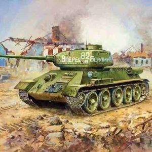 1:100 Zvezda 6160 Soviet Tank T-34/85