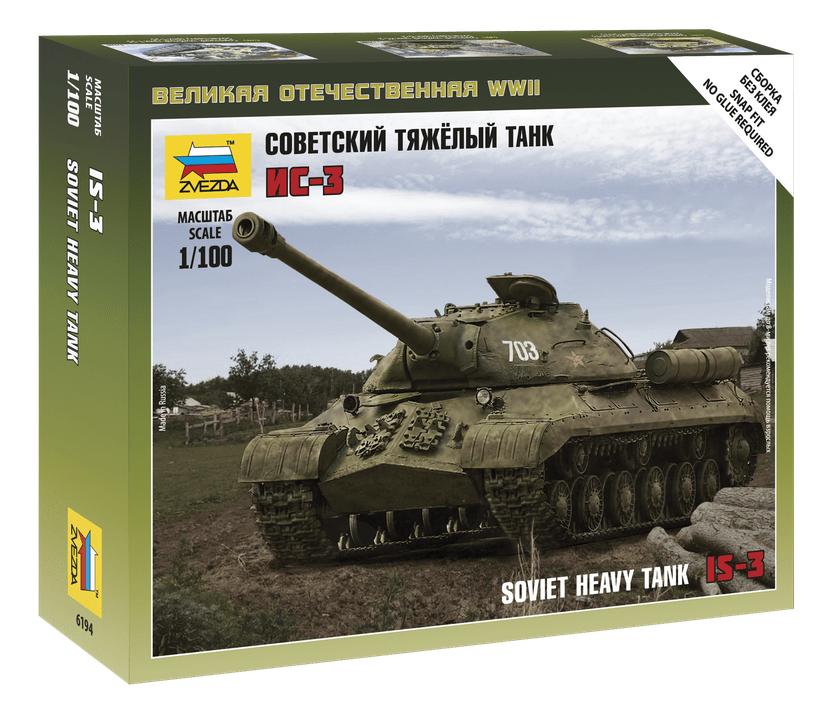 1:100 Zvezda 6194 Soviet Tank IS-3