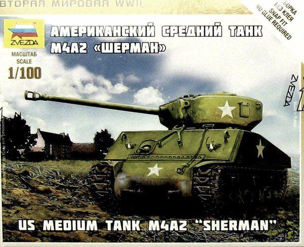 1:100 Zvezda 6263 Sherman M-4