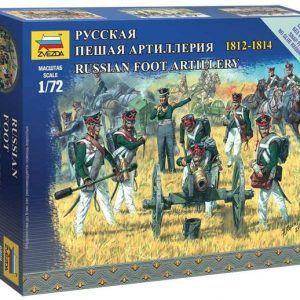 1:72 Zvezda 6809 Russian Foot Artillery 1812-1814