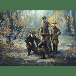 1:35 ICM: WWII Soviet Partisans (4 Figures)