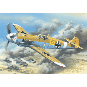 1:48 ICM: Messerschmitt Bf 109F-4Z/Trop, WWII German Fighter (48105)