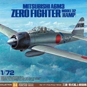 1:72 Tamiya: Mitsubishi A6M3 (Hamp) – Zero Fighter Model 32 (60784)