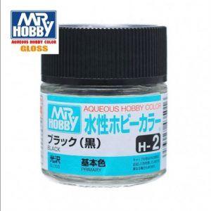 H-2 Negro Brillante Pintura Acrílica Gunze – Hobby Color