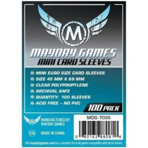 Fundas Mayday – 45×68 Mm Mini Euro Card Sleeves (100)