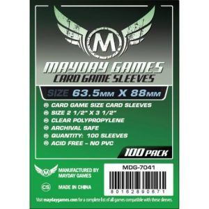 Fundas Mayday: 63.5×88 Mm Card Game Card Sleeves (100) (7041)