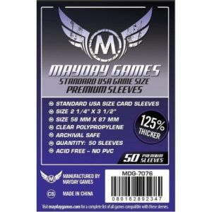 Fundas Mayday: Premium 56×87 Mm Standard USA Card Sleeves (50) (7076)