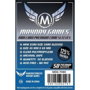 Fundas Mayday: Premium 45×68 Mm Mini Euro Card Sleeves (50) (7080)