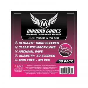 Fundas Mayday: Premium Small Square Card Sleeves 70×70 (50u) (7134)