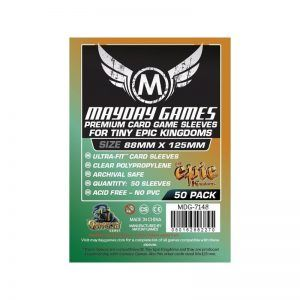 Fundas Mayday: Premium Custom Tiny Epic Kingdoms Sleeves 88×125 (50u)  (7148)