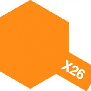 Acrylic Mini X-26 Clear Orange
