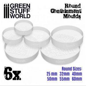 6x Moldes Contencion Blanco Translúcido Para Peanas – Redondas