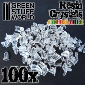 Cristales De Resina Transparente Coloreables