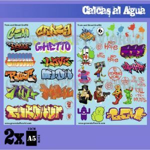 Calcas Al Agua – Mix Graffitis