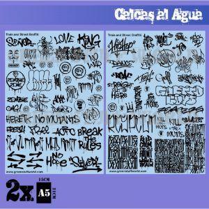 Calcas Al Agua – Mix Graffitis – Negro