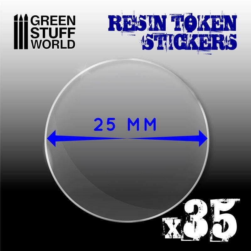 35x Cabuchones Adhesivos Epoxi 25mm