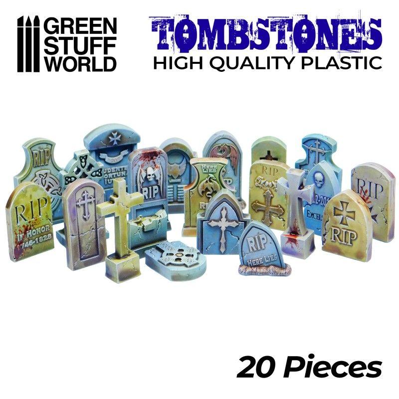 20x Lápidas Cementerio Plástico