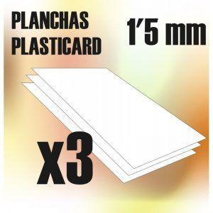 Plancha Plasticard 1'5 Mm – COMBOx3 Planchas