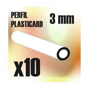 Perfil Plasticard TUBO 3 Mm