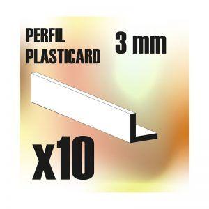 Perfil Plasticard ANGULO-L 3 Mm