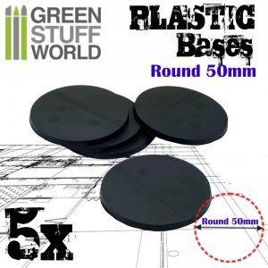 Peanas De Plástico – Redondas 50 Mm NEGRO