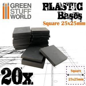 Peanas De Plástico – Cuadradas 25×25 Mm