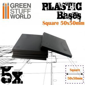 Peanas De Plástico – Cuadradas 50×50 Mm