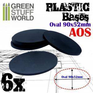 Peanas De Plástico – Ovaladas 90x52mm AOS