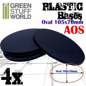 Peanas De Plástico – Ovaladas 105x70mm AOS