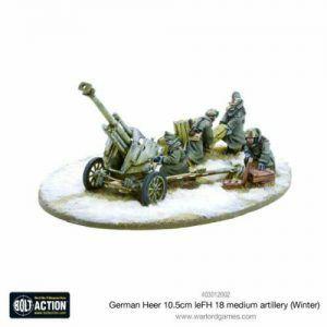 Bolt Action: German Heer 10.5cm LeFH 18 Medium Artillery (Winter)