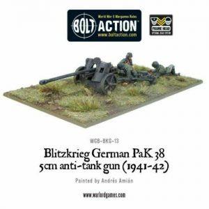 Bolt Action: Blitzkrieg German Pak 38 5cm Anti-tank Gun (1941-42)