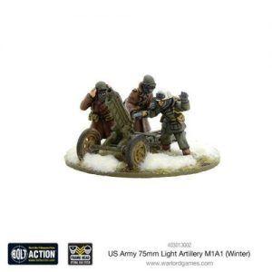 Bolt Action: US Army 75mm Light Artillery M1A1 (Winter)