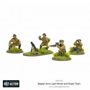 Bolt Action: Belgian Army Light Mortar & Sniper Teams