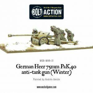 Bolt Action: German Heer 75mm Pak 40 Anti-tank Gun (Winter)
