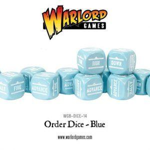 Bolt Action: Order Dice Pack – Dados De órdenes (12) – Blue