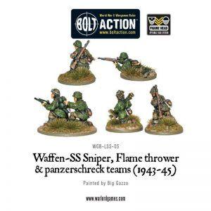 Bolt Action: Fallschirmjager Sniper, Panzerschreck And Flamethrower (WGB-LFJ-05)