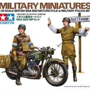 1:35 Tamiya: British BSA M20 Motorcycle W/Military Police