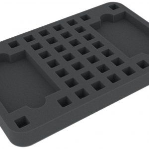 HSLP025BO 25 Mm Half-Size Foam Tray With 36 Square Compartments Plus 2 Card-slots